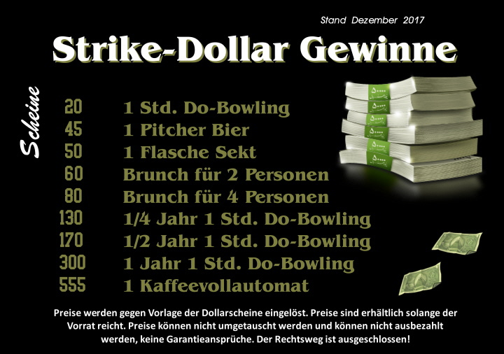 Strikeday Gewinnliste